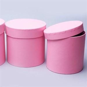 Набор коробок цилиндр 16*16 3шт розовый