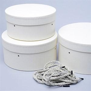 Набор коробок шляпных 22*12см 3шт кремовый