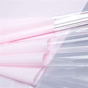 Пленка в рулоне 700 Прозрачный край розовый нежный