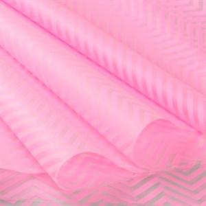 Пленка матовая 70*10 м Зигзаг розовый