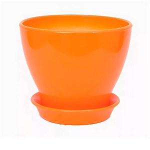 Горшок КСЕНИЯ 1 0,5л глянец оранжевый