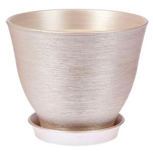 Горшок КСЕНИЯ 5 7,5л серебро