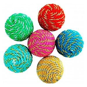 Игрушка Мяч воздушный полосатый с люрексом 4см