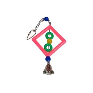 Игрушка для птиц Треугольник с колокольчиком 15см SF3108