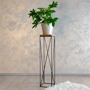 Подставка с деревом для цветов металл Лофт 66-416