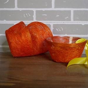 Корзина Диффенбахия ярко-оранжевая из сизаля