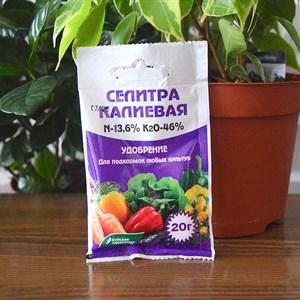 Удобрение Калий азотнокислый 20г (селитра калиевая) (60)