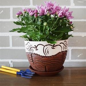 Горшки для цветов КОРЗИНКА С ЯБЛОКАМИ №2