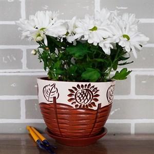 Горшки для цветов ДЕРЕВЕНСКИЙ МОТИВ №2