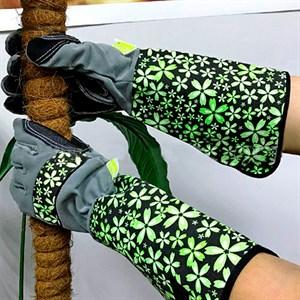 Перчатки для роз иск. замша и микрофибра L Листок