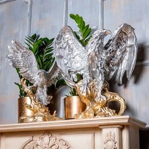 Фигура Орел на коряге серебро золото F01276 SG