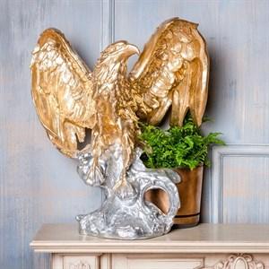 Фигура Орел на пне золотой с серебром F01025 GS