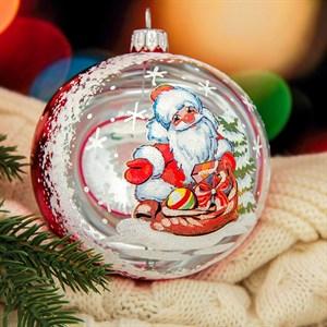 Шар новогодний Морозко ручная работа 9,5см