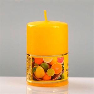 Свеча ароматическая 4х6см цитрусовое удовольствие