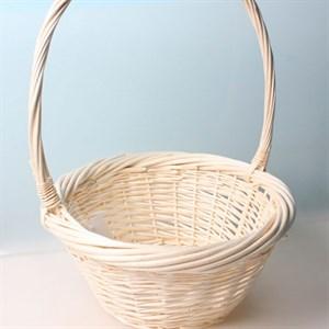 Корзина плетеная ива 17*17*11см белый