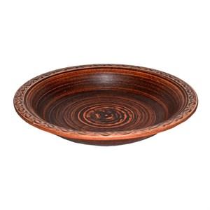 Тарелка полупорционная 0,45л Ангоб Триполье