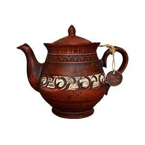 Чайник Витязь 1,4л Ангоб красная глина