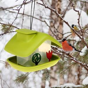 Кормушка для птиц Домик зеленый