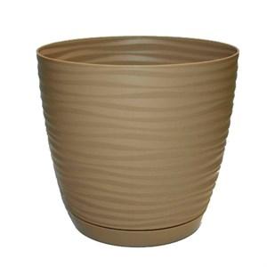 Кашпо САХАРА петит 17 16,7*15,4*2,4 кофе латте с подставкой