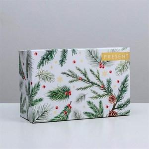 Коробка Новогодний подарок 26х17х10см