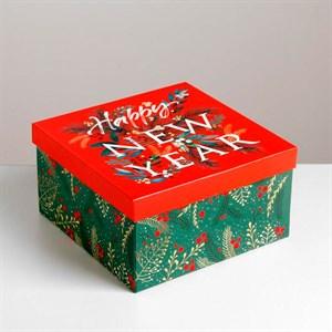 Коробка подарочная Новый Год 20*20*11 см