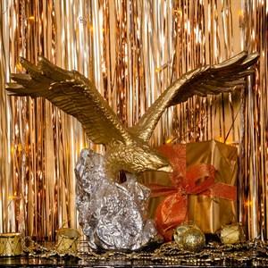 Фигура Орел Кондор золотой с серебром F01239 GS