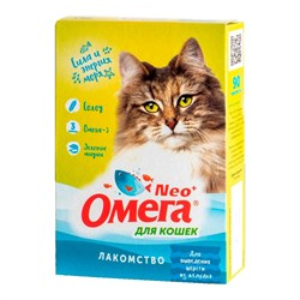 Лакомство Омега Нeo  для кошек 90т с ржаным солодом