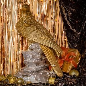 Фигура Сокол золотой с серебром F01032 GS