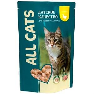 Корм Олл Кэт для кошек 85г курица в соусе паучи