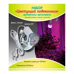 Набор Цветущий подоконник (держатель + фитолампа Фотосинтез 15)