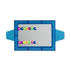 Игрушка д/птиц Зеркало со счетами прямоугольное пластмассовое
