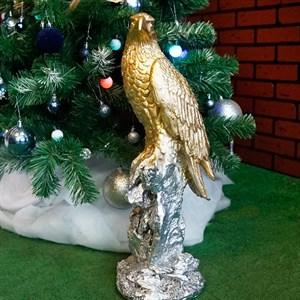 Фигура Сокол на камне золото-серебрянный F01200 GS