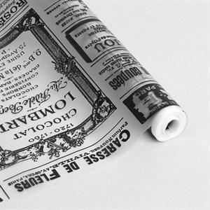 Пленка матовая 700 Газета черный