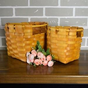 Корзина плетеная секвойя 26*20 см 2шт натуральный