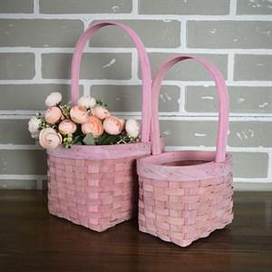 Набор корзин плет секвойя 22*16 см 2шт розовый