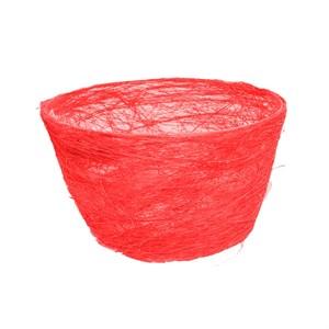 Корзина Гиацинт 70*100 ярко-красная из сизаля