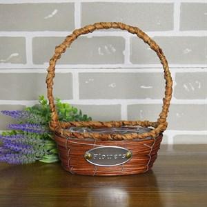 Корзина плетеная секвойя 15*15*12 см коричневый