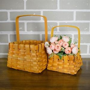 Набор корзин плет секвойя 16,5*12,5 см 2шт натурал.