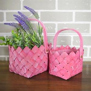 Набор корзин плет секвойя 20*15,5 см 2шт розовый