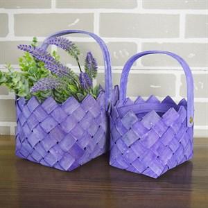 Набор корзин плет секвойя 20*15,5 см 2шт фиолетовый