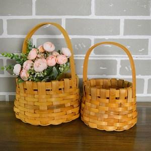 Набор корзин плет секвойя 18*13,5 см 2шт натурал.