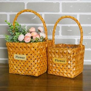 Набор корзин плет секвойя 18*15 см 2шт натурал.