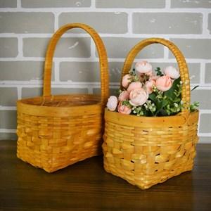 Набор корзин плет секвойя 27*19-20,5*14,5 см 2шт натурал.