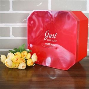 Коробка Октагон 24,5*24,5*13,5 см красный