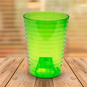 Кашпо Эльба 13*16 зелено-прозрачный