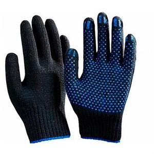 Перчатки х/б 5 нитей Точка черные 10 класс
