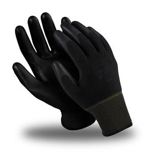 Перчатки нейлоновые с полиуретан.покрытием черные