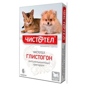 Глистогон ЧИСТОТЕЛ для кошек и собак 6шт таблетки