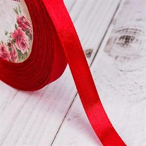 Лента атлас 10мм х 25 ярд красная