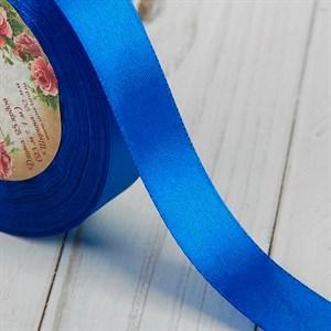 Лента атлас 20мм x 25 ярд синяя